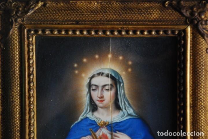 Arte: INCREÍBLE PAREJA DE ANTIGUAS PINTURAS RELIGIOSAS SIGLO XIX - Foto 11 - 156079014