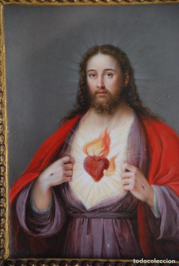 Arte: INCREÍBLE PAREJA DE ANTIGUAS PINTURAS RELIGIOSAS SIGLO XIX - Foto 20 - 156079014