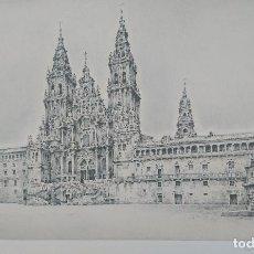 Arte: LITOGRAFIA CON CERTIFICADO CATEDRAL DE SANTIAGO 1999. PINTOR: FRANCESC CONGOST. Lote 156204714