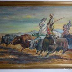 Arte: CUADRO OLEO SOBRE TABLA DEL PINTOR FERNANDO GARCY 59. Lote 156246950