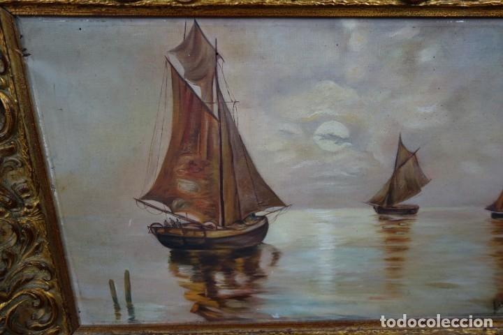 Arte: CUADRO OLEO SOBRE LIENZO FIRMADO LVICINA DE 1932 - Foto 2 - 156250258