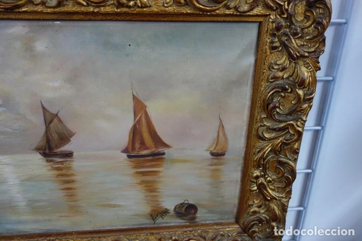 Arte: CUADRO OLEO SOBRE LIENZO FIRMADO LVICINA DE 1932 - Foto 3 - 156250258