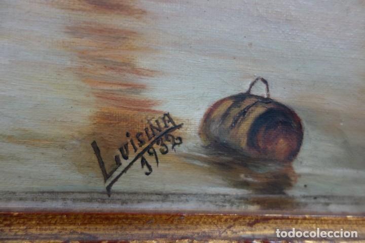 Arte: CUADRO OLEO SOBRE LIENZO FIRMADO LVICINA DE 1932 - Foto 4 - 156250258
