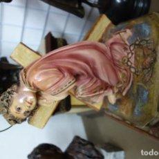 Arte: IMAGEN RELIGIOSA NIÑO CON CRUZ DE OLOT . Lote 156296354