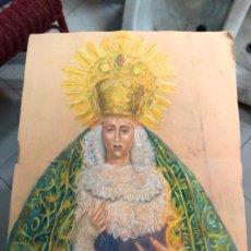 Arte: PINTURA SOBRE PAPEL VIRGEN CONCEPCION - SEMANA SANTA DE SEVILLA - MEDIDA 65X50 CM - RELIGIOSO. Lote 156513974