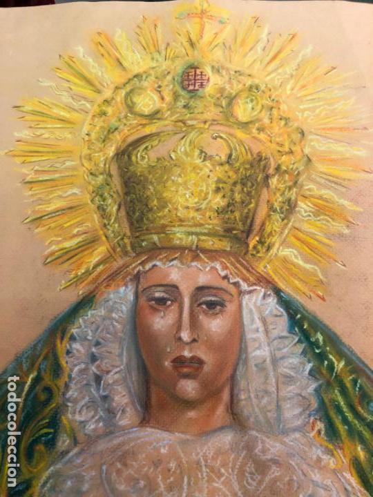 Arte: PINTURA SOBRE PAPEL VIRGEN CONCEPCION - SEMANA SANTA DE SEVILLA - MEDIDA 65X50 CM - RELIGIOSO - Foto 2 - 156513974