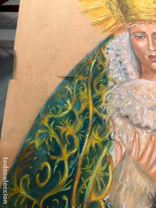 Arte: PINTURA SOBRE PAPEL VIRGEN CONCEPCION - SEMANA SANTA DE SEVILLA - MEDIDA 65X50 CM - RELIGIOSO - Foto 3 - 156513974