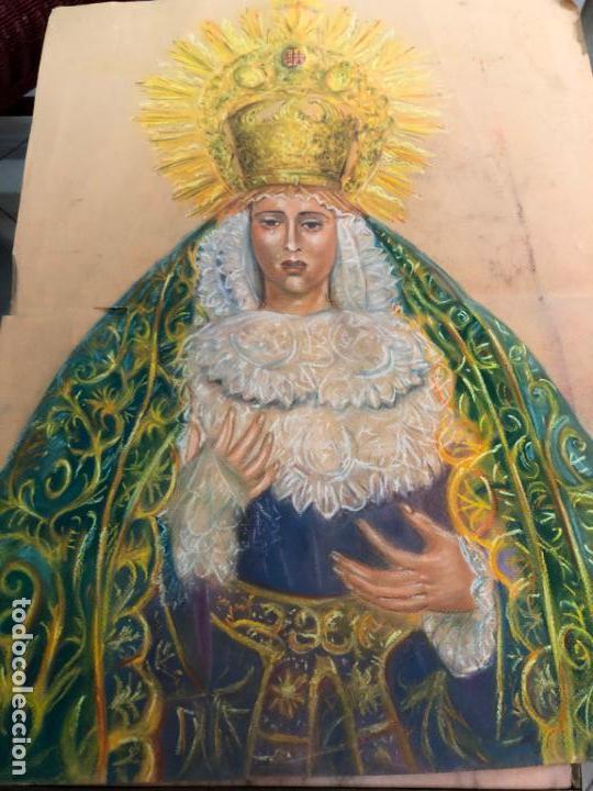 Arte: PINTURA SOBRE PAPEL VIRGEN CONCEPCION - SEMANA SANTA DE SEVILLA - MEDIDA 65X50 CM - RELIGIOSO - Foto 5 - 156513974