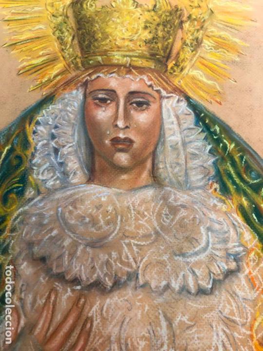 Arte: PINTURA SOBRE PAPEL VIRGEN CONCEPCION - SEMANA SANTA DE SEVILLA - MEDIDA 65X50 CM - RELIGIOSO - Foto 9 - 156513974