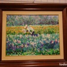 Arte: CUADRO OLEO SOBRE TABLA DEL PINTOR AMADOR PUCHE. Lote 156546850