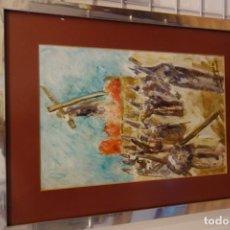 Arte: CUADRO OLEO SOBRE CARTULINA DEL PINTOR MURCIANO ROSIQUE. Lote 156548598