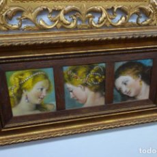 Arte: CUADRO DE LAS TRES GRACIAS OLEO SOBRE TABLA DEL PINTOR FERNANDO C. SEIQUER. Lote 156549502