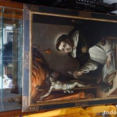Arte: CUADRO OLEO SOBRE LIENZO SANTO TOMAS DE AQUINO ESCUELA ANDALUZA DEL SIGLO XVIII ORIGINAL DE EPOCA. Lote 156552562