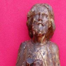 Arte: TALLA EN MADERA DE SAN LUCAS, SIGLO XIV-XV, DE ESCUELA ESPAÑOLA. 39X27X14 CMS. . Lote 156652818