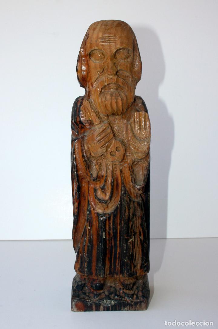 ANTIGUA TALLA RELIGIOSA DE MADERA - SANTO EVANGELISTA APOSTOL 33 CMS (Arte - Arte Religioso - Escultura)