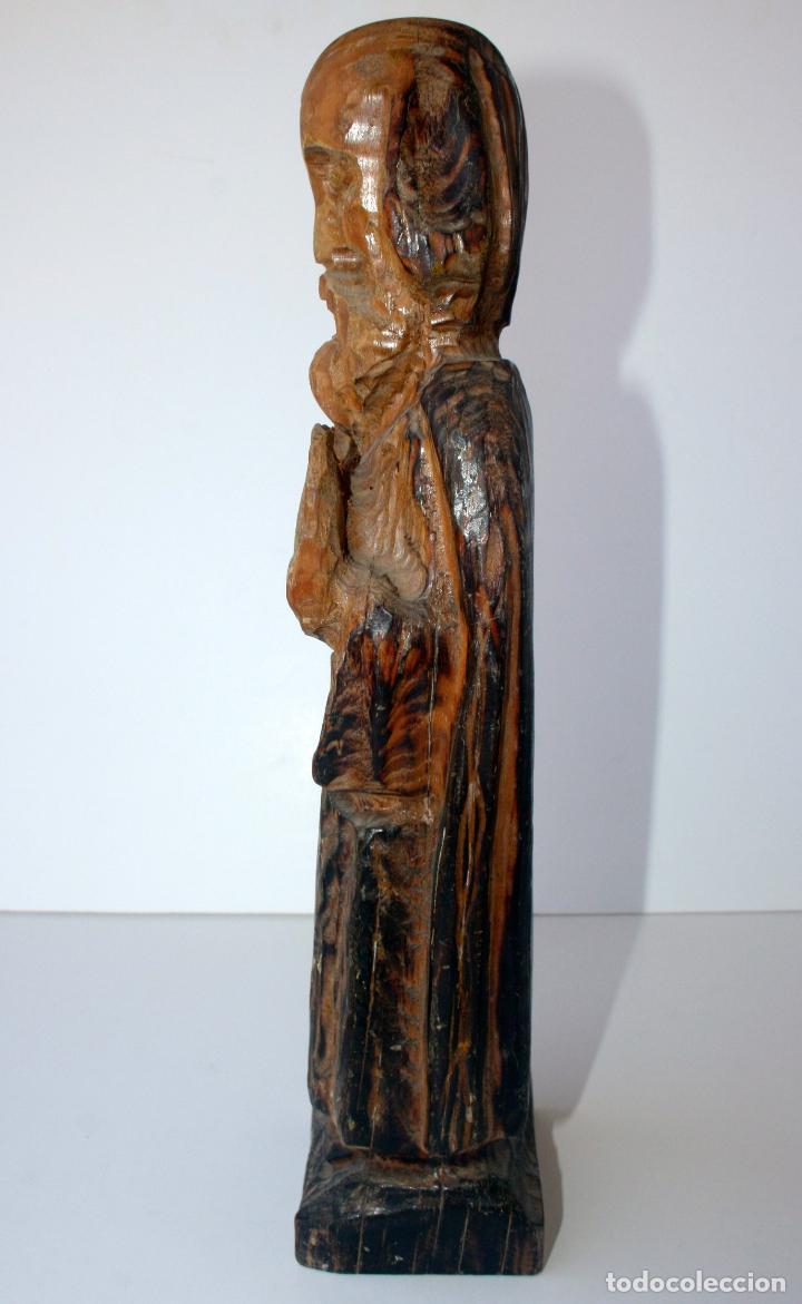 Arte: Antigua Talla Religiosa de Madera - Santo Evangelista Apostol 33 cms - Foto 4 - 156715178
