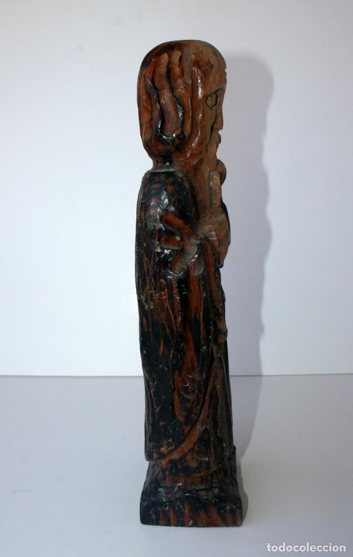 Arte: Antigua Talla Religiosa de Madera - Santo Evangelista Apostol 33 cms - Foto 6 - 156715178