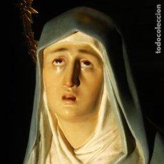 Arte: ANTIGUA MADRE DOLOROSA EL ARTE CRISTIANO PASTA DE MADERA. Lote 156801750