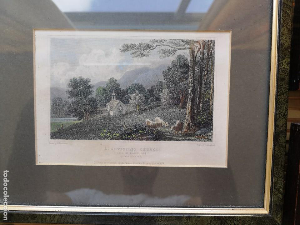 Arte: LOTE DE TRES LITOGRAFÍAS ANTIGUAS ORIGINALES BRITÁNICAS ENMARCADAS - Foto 4 - 156888230