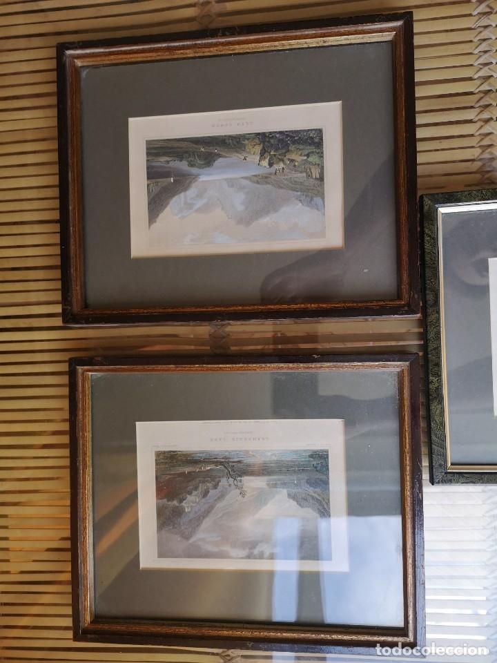 Arte: LOTE DE TRES LITOGRAFÍAS ANTIGUAS ORIGINALES BRITÁNICAS ENMARCADAS - Foto 7 - 156888230