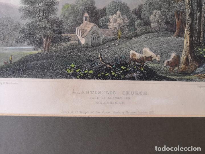 Arte: LOTE DE TRES LITOGRAFÍAS ANTIGUAS ORIGINALES BRITÁNICAS ENMARCADAS - Foto 9 - 156888230