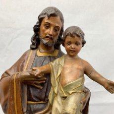 Kunst - SAN JOSE CON NIÑO EN PASTA DE MADERA OLOT - 156923010