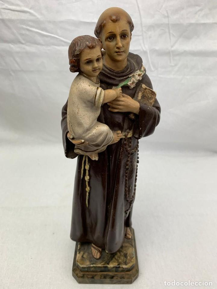 SAN ANTONIO EN PASTA MADERA OLOT (Arte - Arte Religioso - Escultura)
