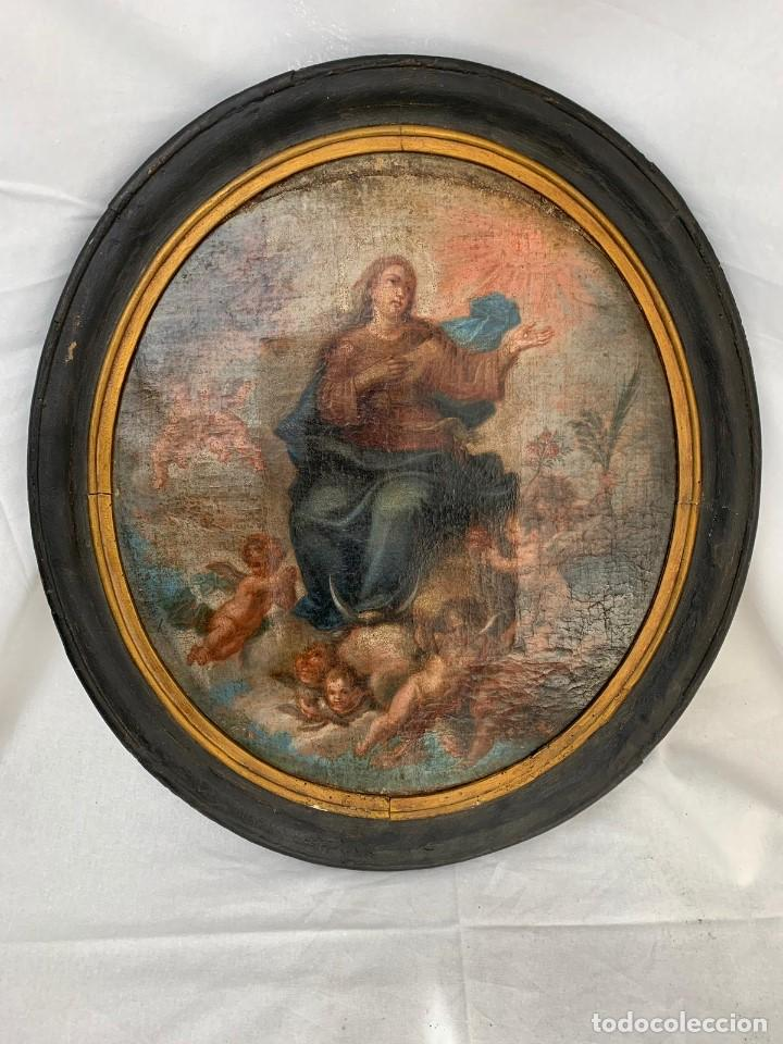 OLEO RELIGIOSO SIGLO XIX (Arte - Arte Religioso - Pintura Religiosa - Oleo)