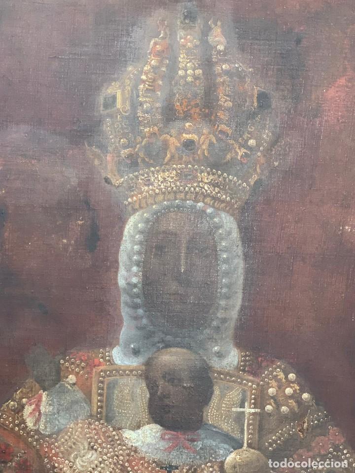 Arte: OLEO VIRGEN DEL SAGRARIO DE TOLEDO SIGLO XVII - Foto 2 - 157104674