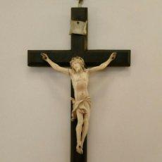 Arte: IMPRESIONANTE CRISTO DE MARFIL FRANCIA SIGLO XVIII FINISIMOS DETALLES. Lote 157139806