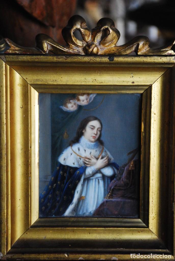 ESPECTACULAR PINTURA RELIGIOSA SIGLO XIX (Arte - Arte Religioso - Pintura Religiosa - Oleo)