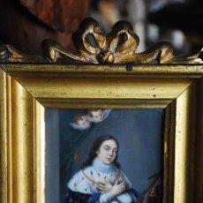 Arte: ESPECTACULAR PINTURA RELIGIOSA SIGLO XIX. Lote 157205938