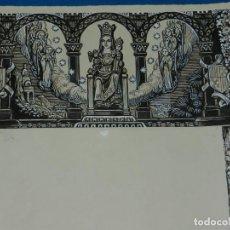 Arte: (M) DIBUJO ORIGINAL GOIG - GOZOS NUESTRA SEÑORA DE QUERALT , ILUSTRADO POR FAROLL. Lote 157210782