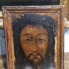 Arte: ÓLEO SOBRE TABLA. S.XVI - XVII. SANTA FAZ. MARCO ORIGINAL. Lote 139118185
