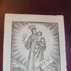Arte: ANTIGUO GRABADO , S.XIX - S. ANTONIO DE PADUA - 22X16 CM. . Lote 157697330