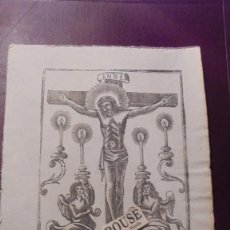 Arte: ANTIGUO GRABADO , S.XIX - EL SANTO CRISTO - 22X16 CM. . Lote 157698338