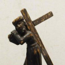 Arte: ANTIGUA ESCULTURA TALLA MADERA SIGLO XVII CRISTO DEL GRAN PODER JESÚS NAZARENO 17 CM 323,00 €. Lote 157702806