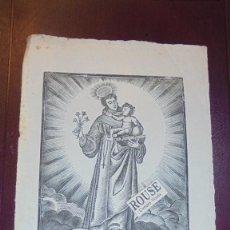 Arte: ANTIGUO GRABADO S. XIX - S. ANTONIO DE PADUA - 22X17 CM. . Lote 157735970