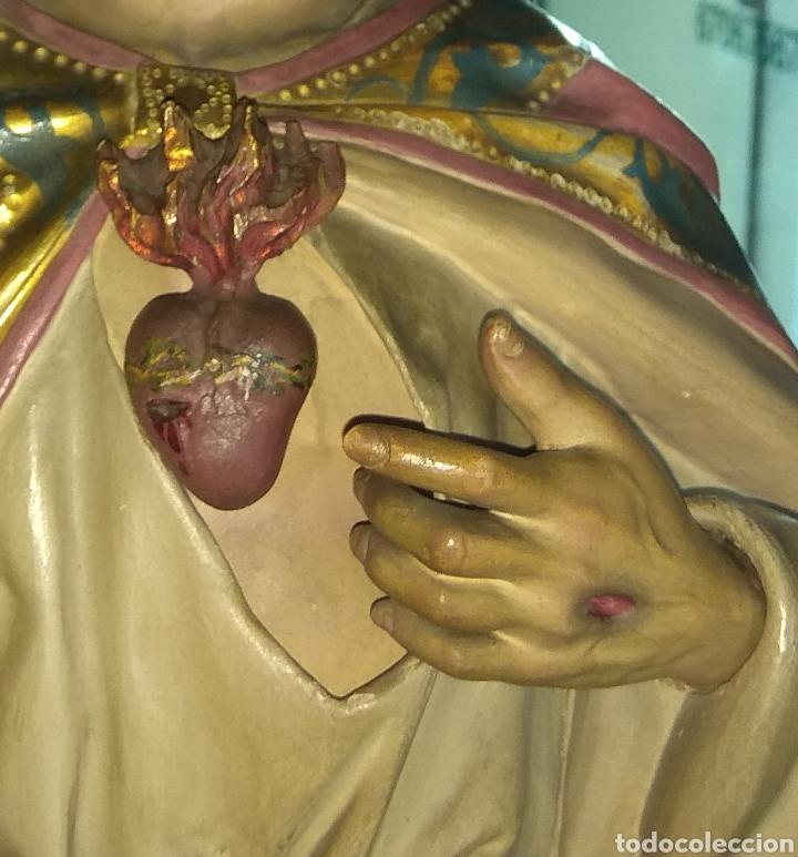 Arte: Escultura Sagrado Corazón de Jesús XIX Madera - Foto 6 - 147229958