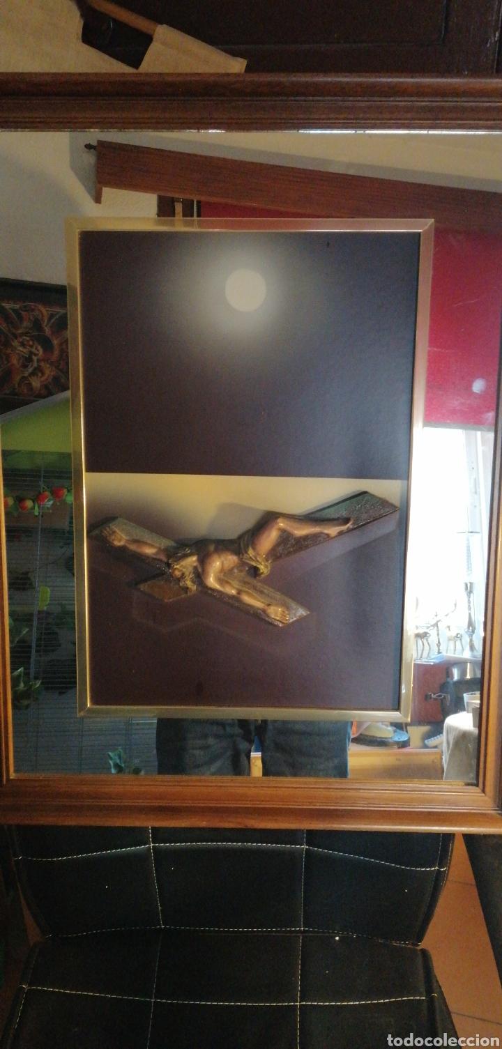 MARAVILLOSO CUADRO HECHO EN RELIEVE (Arte - Arte Religioso - Grabados)