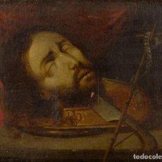 Arte: CABEZAS DE SAN JUAN BAUTISTA Y SAN PABLO. Lote 158015418
