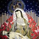 Arte: EXCEPCIONAL CERÁMICA ESMALTADA PINTADA A MANO VIRGEN SANTA MARÍA DE ÁFRICA. Lote 158102590