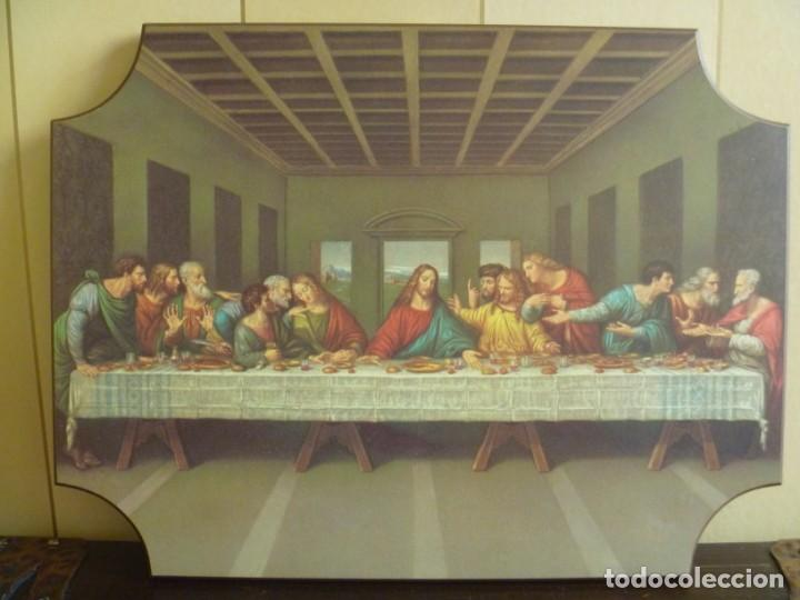 ULTIMA CENA LEONARDO DA VINCI SERIGRAFIA SOBRE MADERA IDEAL REGALO (Arte - Arte Religioso - Pintura Religiosa - Otros)