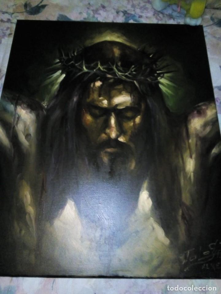 Arte: CRISTO CRUCIFICADO. JOLOGA. 73X60. ELIGE MARCO A TU GUSTO DE REGALO. - Foto 13 - 126695651