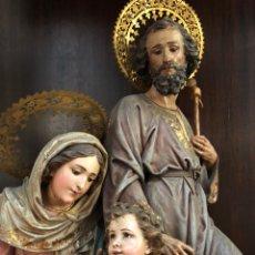 Arte: SAGRADA FAMILIA TALLA MADERA 1899. Lote 158141254