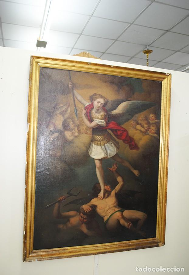 ÓLEO SOBRE LIENZO ARCÁNGEL SAN MIGUEL, S.XVIII (Arte - Arte Religioso - Pintura Religiosa - Oleo)