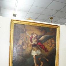 Arte: ÓLEO SOBRE LIENZO ARCÁNGEL SAN MIGUEL, S.XVIII. Lote 158143386