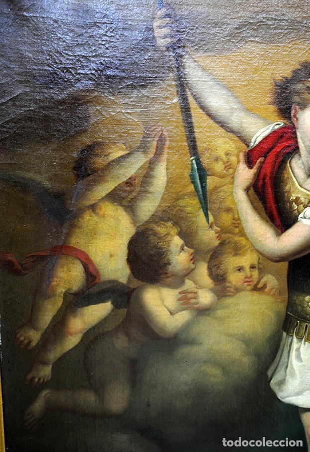 Arte: ÓLEO SOBRE LIENZO ARCÁNGEL SAN MIGUEL, S.XVIII - Foto 6 - 158143386
