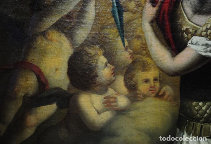 Arte: ÓLEO SOBRE LIENZO ARCÁNGEL SAN MIGUEL, S.XVIII - Foto 7 - 158143386