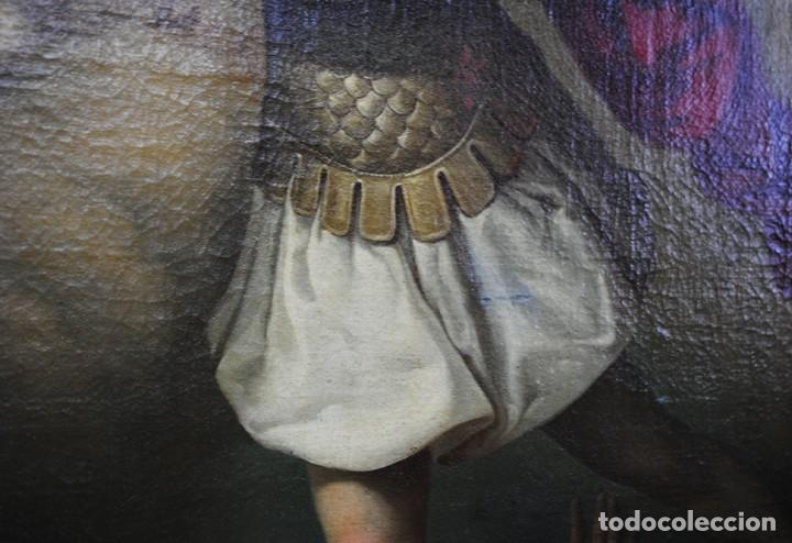 Arte: ÓLEO SOBRE LIENZO ARCÁNGEL SAN MIGUEL, S.XVIII - Foto 12 - 158143386